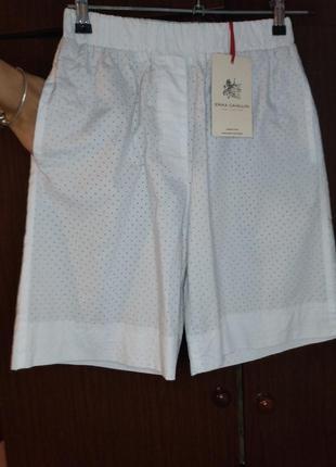 Оригинальные  бермуды ( шорты, длинные шорты) италия. erica cavallini/ перфорация.