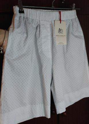 Оригинальные  бермуды ( шорты, длинные шорты) италия. erica cavallini/ перфорация.6 фото