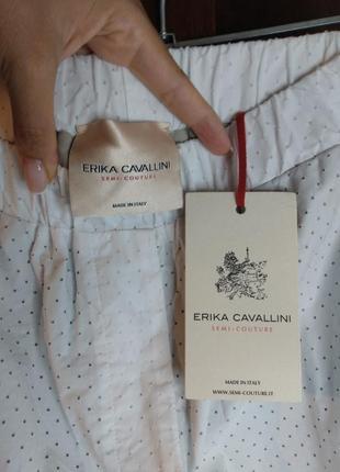 Оригинальные  бермуды ( шорты, длинные шорты) италия. erica cavallini/ перфорация.8 фото