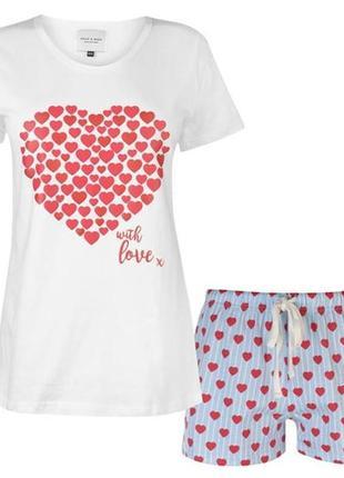 Пижама rock and rags, англия. размеры 8-10,12-14