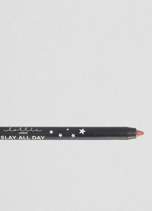 Водостойкий нюдовый карандаш для губ  lottie london saly all day lip liner
