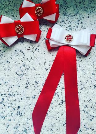 Школьный комплект школа бантики форма галстук