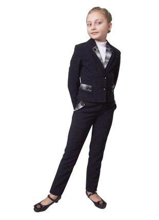 Пиджак школьный для девочки черный а м-958 рост 122 128 146 152 158 164 и 170