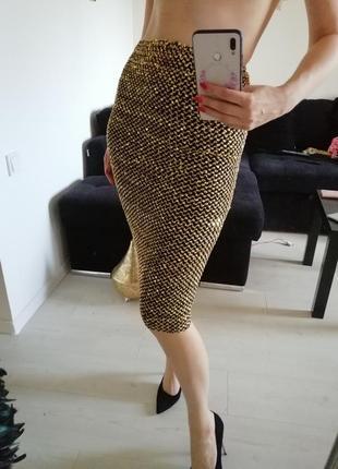 Юбка золотая