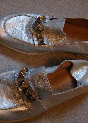 Мюли туфли  мокасины с мягкой пяткой divine follie  p.39  италия