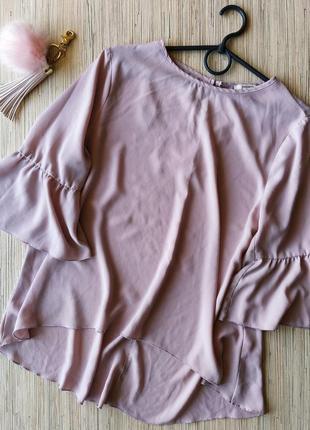 Крaсивая лилово-розовая блуза с интересными рукавчиками