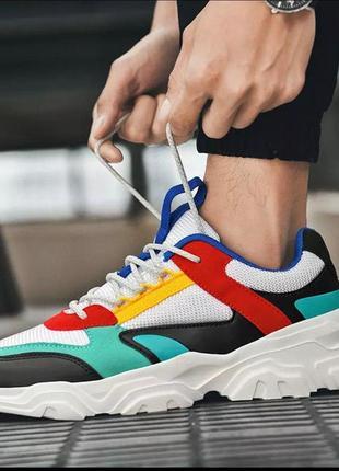 Яркие мужские кроссовки стильные топ-качества!
