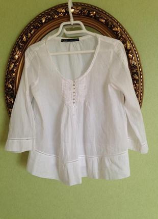 Батистовая туника блуза zara