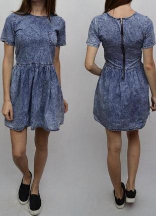Платье джинсовое сарафан denim co