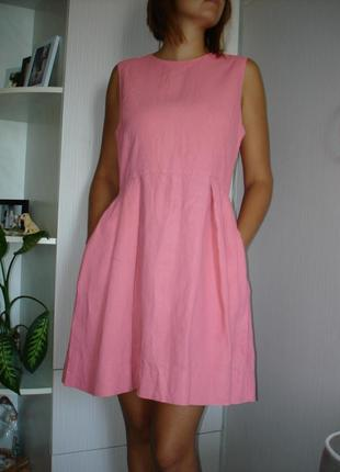 Красивое натуральное платье бренд gap  100% лен