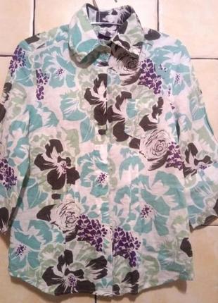 Рубашка-пиджак женский льняной размер 36-38