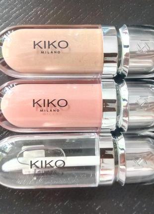 Комплект блесков для губ kiko 3d hydra lipgloss