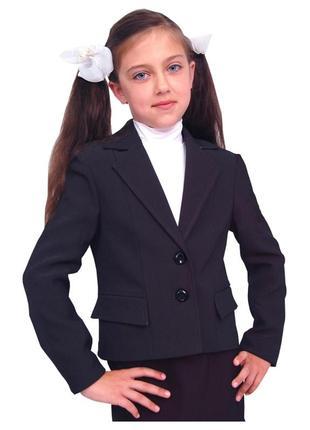 """Пиджак школьный для девочки м-511 рост 158 синий тм """"попелюшка"""""""