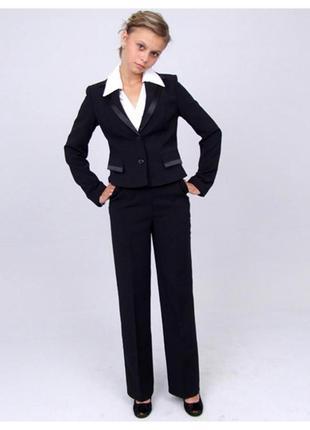 """Пиджак школьный для девочки м-659 рост 164 черный тм """"попелюшка"""""""