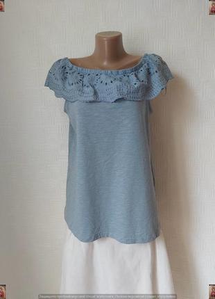 Фирменная george блуза с биркой со 100 % хлопка с воланом с прошвы, размер 2хл