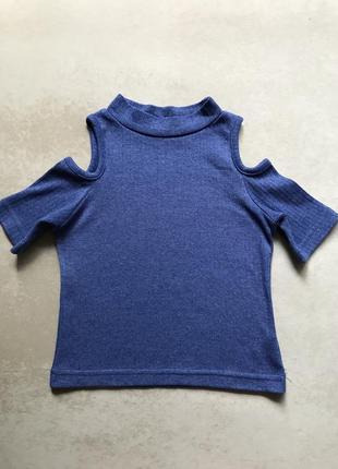 Короткий топ с вырезами на плечах, майка, футболка