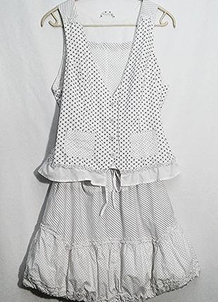 Аlice, костюм двусторонний жилет блуза юбка