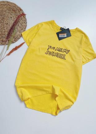 Яркая овертайм футболка/ котон