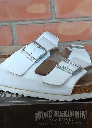 Birkenstock шлепанцы сандалии кожаные пробка made in germany оригинал (42)
