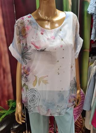 Шёлковая воздушная блуза италия