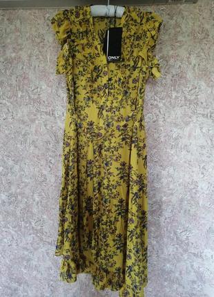 Шифоновое платье в цветочный принт only