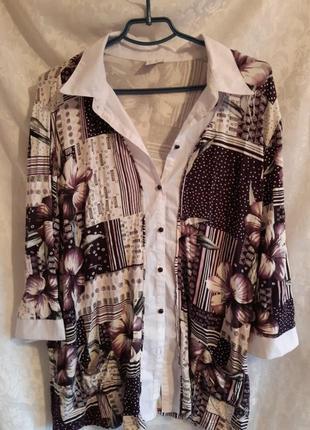 Блузка большой размер 64