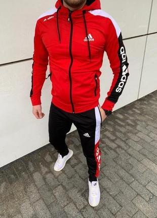 Спортивний костюм adidas мужской красный