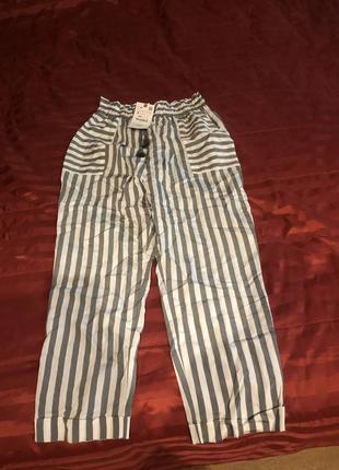 Новые шикарные штаны zara размер s-m