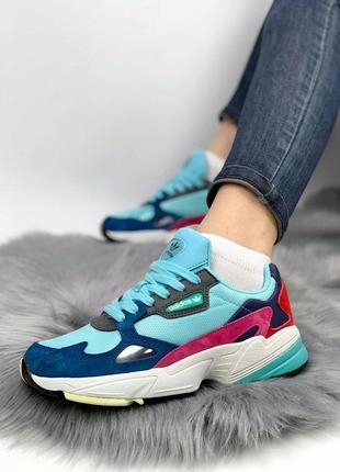 Женские кроссовки адидас adidas falcon mint blue