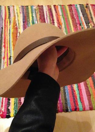 Широкополая шерстяная шляпа h&m
