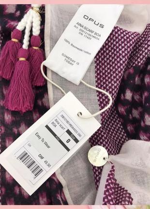 Новый ♥️♥️♥️ брендовый хлопковый платок с кистями opus