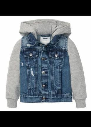 Джинсовая куртка на мальчика pepperts,lupilu.