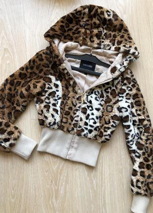 🐆chicoree курточка леопард/тигриный принт/животный