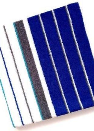 Полотенце банное махровое синий с белым 140*70