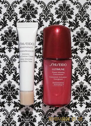 Антивозрастной набор shiseido крем для глаз intensive eye contour и сыворотка от морщин