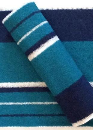 Полотенце кухонное махровое синий с бирюзовым 50*30