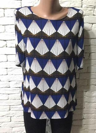 Красивая блуза из вискозы с геометрическим принтом