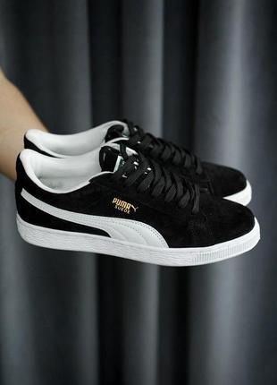 Puma suede кроссовки пума черный цвет (36-42)💜