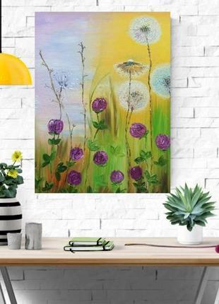 Картина маслом «летнее настроение», 50х60