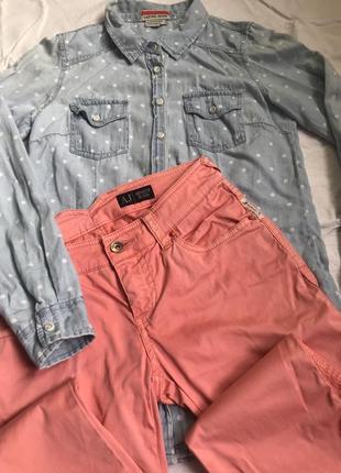 Джинсы армани оригинал! плюс рубашка