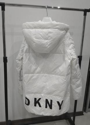 Новый пуховик одеяло dkny паркакуртка 90% пух оригинал трансформер (жилет) куртка