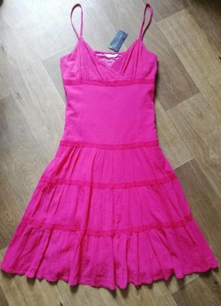 ‼️распродажа ‼️котоновый сарафан с кружевом, сукня, плаття, платье