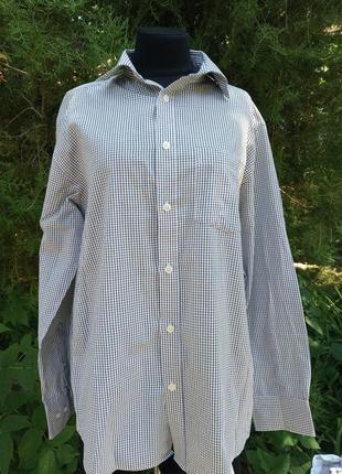 Рубашка в клетку классическая удобная