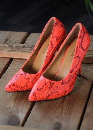 Акция! туфли, лодочки, яркие туфли, неоновые туфли