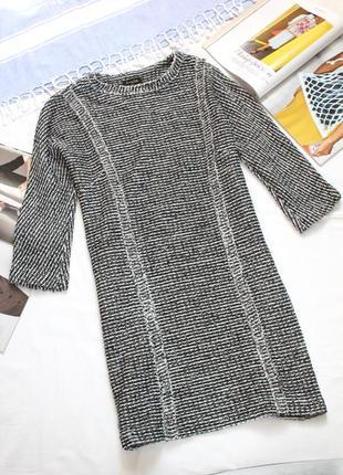 Трендовое твидовое платье massimo dutti 36 с размер