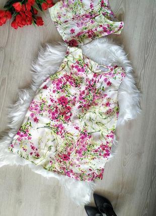 Нежная блуза в цветочный принт