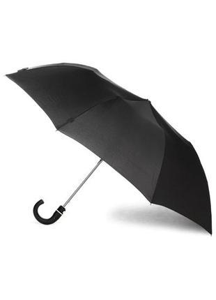Зонтик зонт черный складной компактный полуавтомат