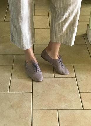 Кожаные итальянские мокасины туфли от office