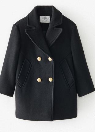 Шерстяное пальто zara, размеры на 9 и 10 лет
