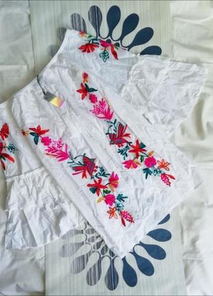 Пляжная туника белая белое пляжное платье вышивкой пляжна туніка біла біла пляжна сукня